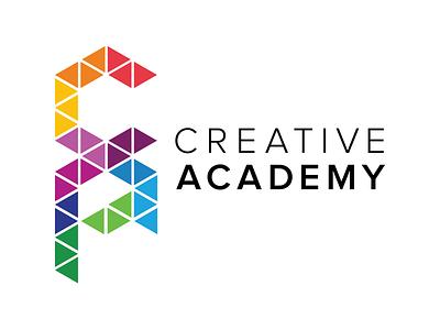 Creative Academy Logo full spectrum jeweled tones logo academy creative