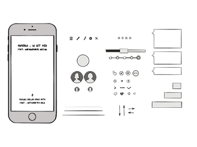 Rapid Prototype UI Kit rapid prototype prototype mobile iphone chat applepencil ipad pro drawing illustration paper53