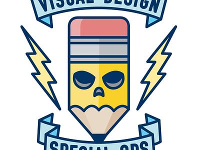 SWAT logo banner skull lightning pencil logo illustration swat special ops visual design