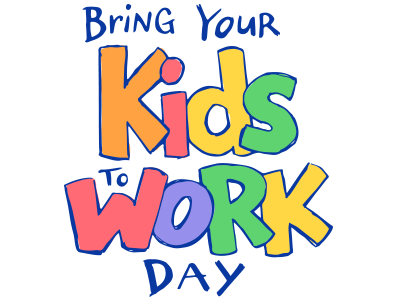 Bring Your Kids to Work Day logo bring your kids to work sketch rainbow work kids logo