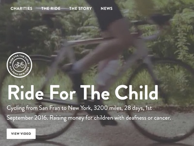 Ride For The Child fundraising website charity
