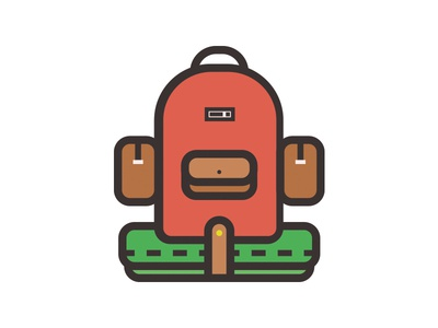 Backpack illustration icon