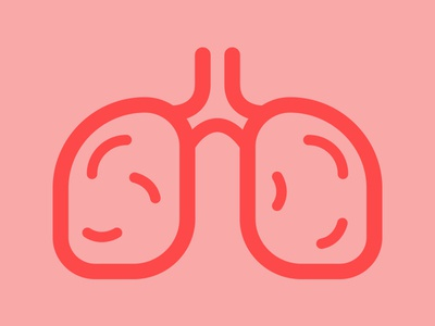 Lungs illustration icon