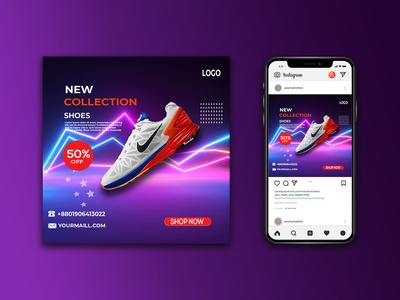 Social media Baner design products promote gmail messages gmail social media post design logo ui branding 3d animation motion graphics graphic design