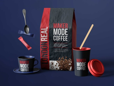 Red Real Coffee Pouch Mockup coffee real app icon typography ux vector ui branding illustration prime mock up psd design logo premium new mockup pouch red