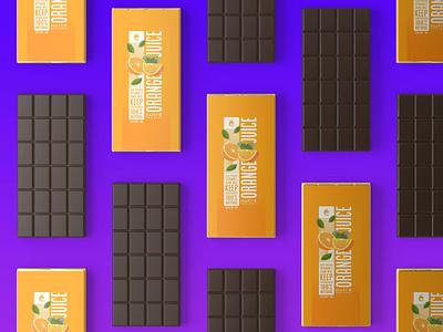 Orange Chocolate Bar Packaging Mockup mock up brand icon ux ui vector typography illustration branding choco design logo psd mockup packaging chocolate orange