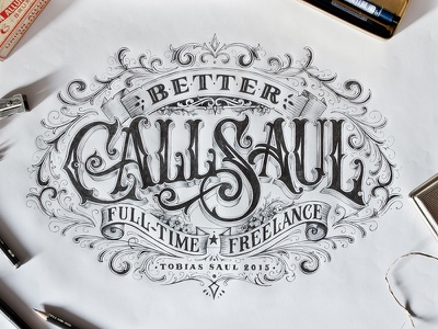 Better Call Saul hand lettering lettering typography