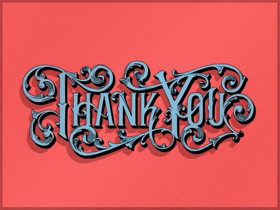 Thank You! type design type typography colorful thank you lettering hand lettering