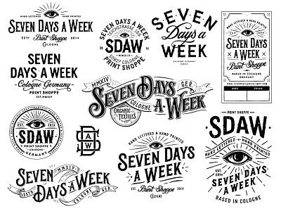 SDAW Branding type design typography hand lettering lettering logodesign logo branding