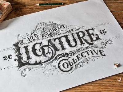 Ligature Collective 10K type design type typography drawing lettering hand lettering