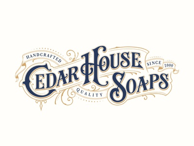 Cedar House Soaps typography customtype handlettering lettering logotype logo