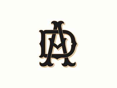 Ad Monogram for Amsterdam Dandy monogram typography logotype logo lettering handlettering customtype