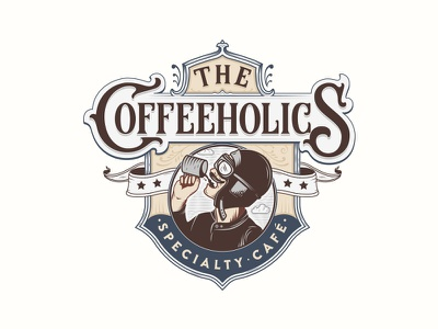 The Coffeeholics typography logotype logo lettering handlettering customtype