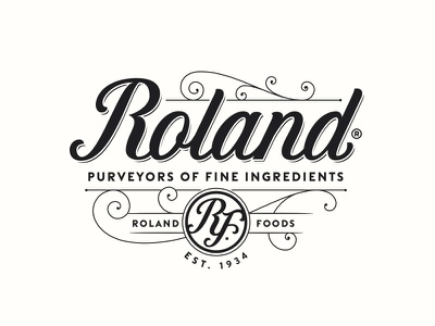 Roland Foods typography logotype logo lettering handlettering customtype
