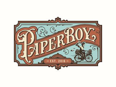 Paperboy typography logotype logo lettering handlettering customtype