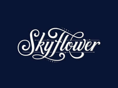 Warped Cigars – Skyflower cigars typography logotype logo lettering handlettering customtype