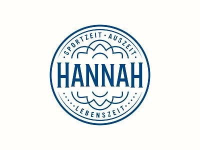 Hannah yoga typography logotype logo lettering handlettering customtype