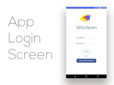 Simple App Login Screen