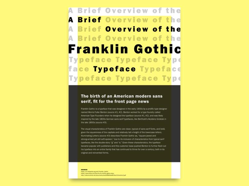 Typography Study franklin gothic typography