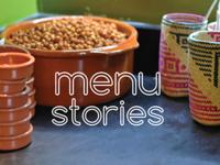 Menu Stories Business Cards