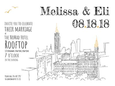 NoMad Hotel New York Wedding Invitations