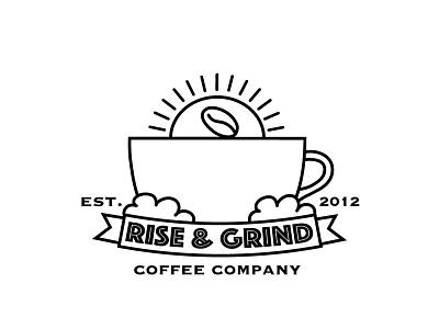 Coffee Company Logo Design vector mug coffee beans coffee cafe business logo logo design branding graphic design