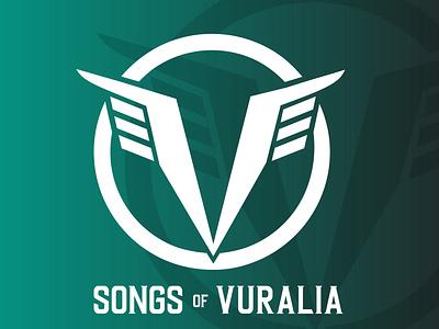 VURALIA Sci-Fi Logo story fiction novel sci-fi science fiction illustration design branding logo graphic design