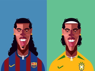 R10 ronaldinho brazil design vector illustration icon vector illustration character football