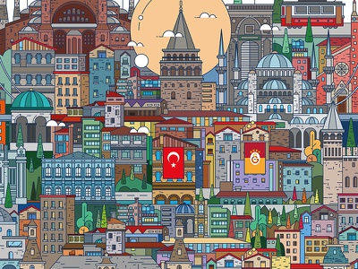 Istanbul, Turkey country history design vector illustration icon illustration vector city turkey istanbul