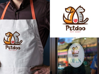 Petdoo Pet Shop Branding branding character ui ux vector illustration illustration design vector icon logo