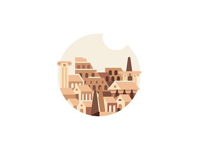 Imperial Rome roman empire italia italy empire roman rome history ui ux logo vector illustration illustration design vector icon