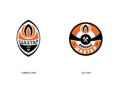 Shakhtar Donetsk New Logo ukranie soccer branding football city app ux ui logo design vector icon