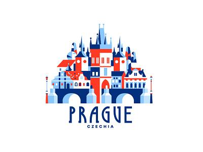 Prague, Czechia czech republic czechia czech praha prague logo history city ux ui vector illustration illustration design vector icon