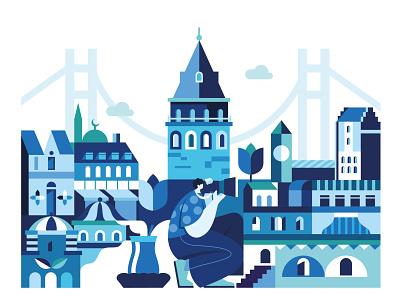 Istanbul, Turkey turkey turk istanbul minimal web city vector illustration illustration design vector icon
