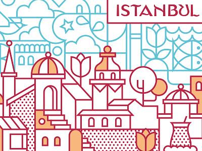 Istanbul, Turkey turkish turkey turk istanbul typography ux ui vector illustration illustration design vector icon