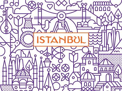 Istanbul, Turkey turkish turkey turk istanbul city app logo ux ui vector illustration illustration design vector icon