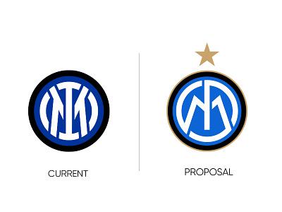 Inter Logo Redesign europe italy italia branding football app logo ux ui design vector icon
