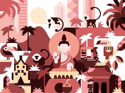 Thailand culture asia thai thailand illustration vector illustration design vector icon
