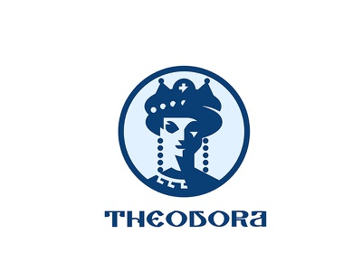 Theodora illustration typography logo branding vector illustration icon design vector