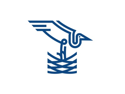 Stork stork ux ui logo illustration vector illustration design vector icon