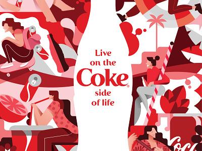 Coke ux ui branding illustration vector illustration design vector icon