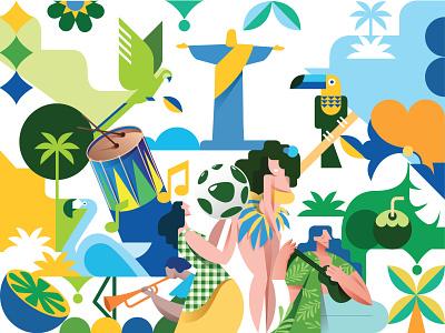 Brazil latin south america brazil illustration vector illustration design vector icon