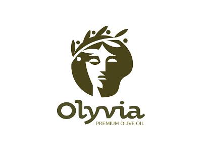 Olyvia Olive Oil food nature oliveoil olive branding ui logo vector illustration illustration design icon vector