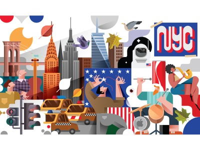 NYC america usa new york newyork nyc vector illustration illustration design icon vector