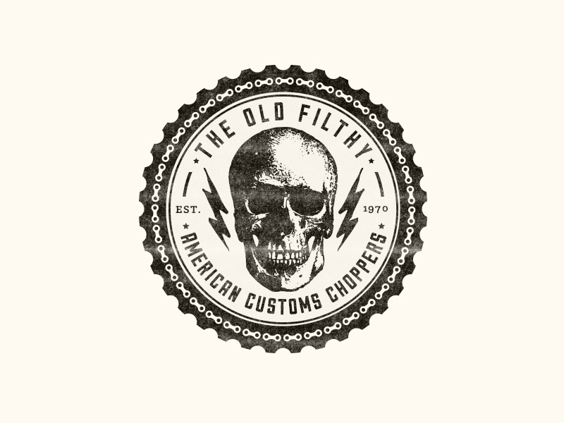 The Old Filthy - American Customs Choppers by Rolando S  Pí