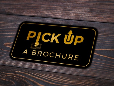 Pick up a brochure sticker design directional signage