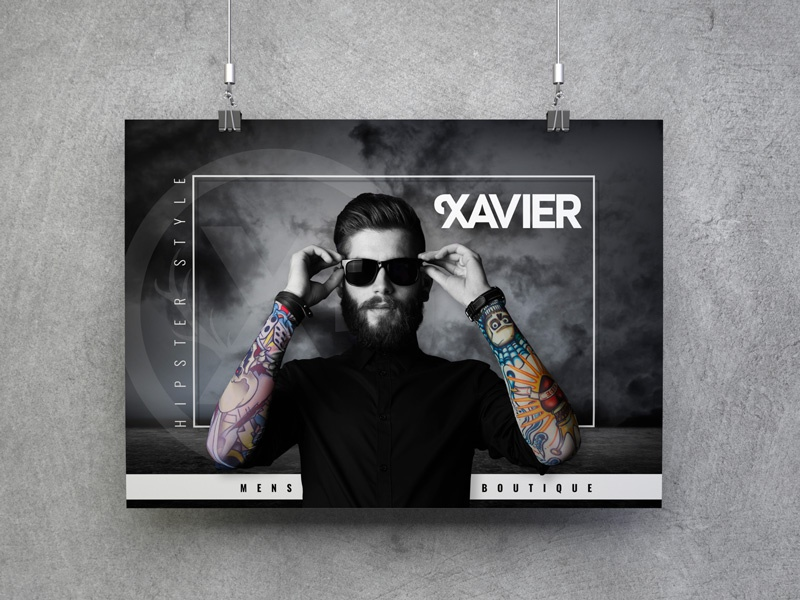 Mens Boutique Fashion Poster Hipster Style by Bradley Lancaster ...
