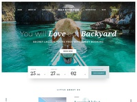 Luxury Tropical Resort Hotel Landing Page Design