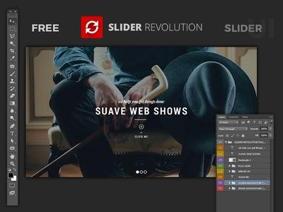 FREE PSD SLIDER UI - Slider Revolution Fullscreen Wordpress psd photoshop web modern ux revolution themepunch slider ui freebie free