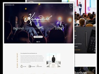 Events Agency Landing Page Website Design